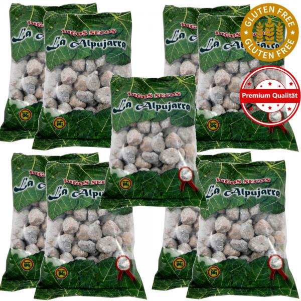 Getrocknete Feigen aus Spanien - Premiumqualität - 100 % natürlich - Glutenfrei - 9 x 500 g - 4,5 Kg