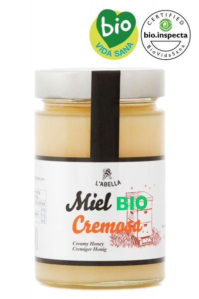 BIO Cremehonig aus Spanien - Premium Qualität - reines Naturprodukt - kaltgeschleudert - im Glas