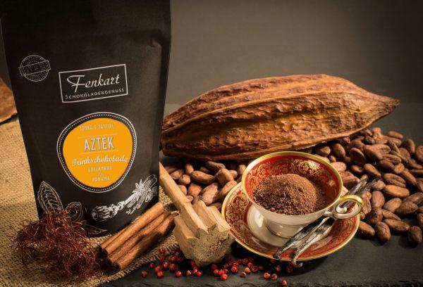 Trinkschokolade Aztek Tonka & Vanille 200g | Kakao Natur aus kräftigem Edelkakao aus Panama