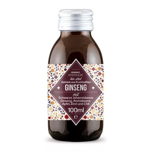 Organic Human - Bio Shot - Ginseng mit Schwarzer Johannisbeere, Ginseng, Apfel