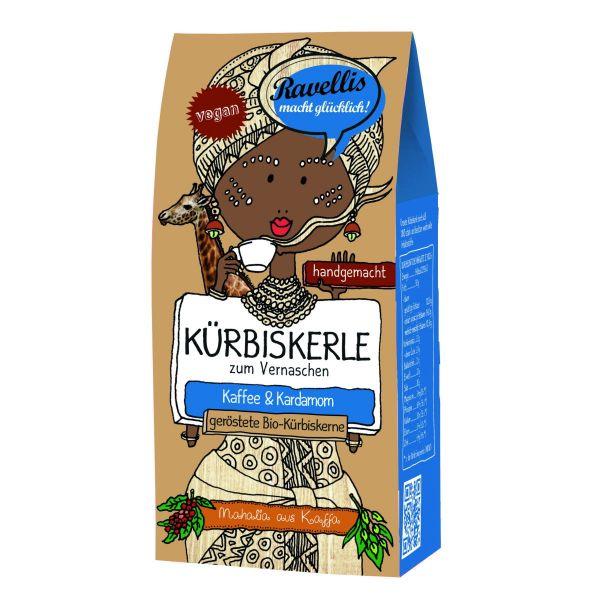 Ravellis Kürbiskerne mit Kaffee und Kardamom (80 g) - Bio