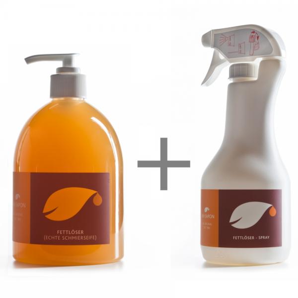BIO Fettlöser 500 ml SET Uni Sapon - Konzentrat - chemiefrei - umweltschonend - zertifiziert