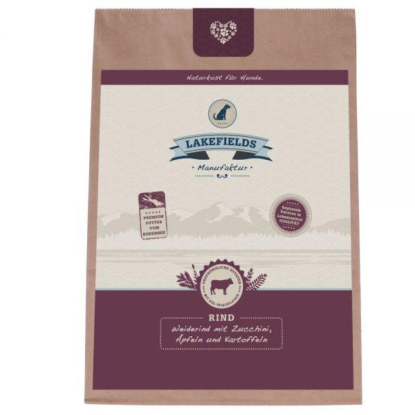 Lakefields Premium Trockenfleisch Menü Weiderind mit Zucchini, Äpfeln und Karotten