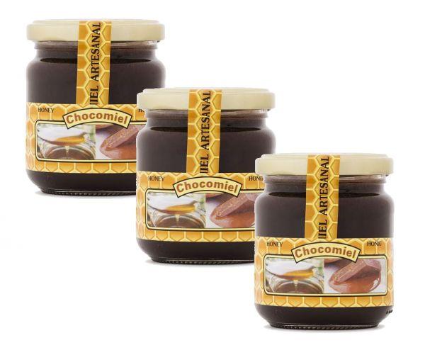 Kakao in Honig - Schokoladenhonig ein einzigartiges Produkt im Mix mit tollem Geschmack - 3 x 250 g