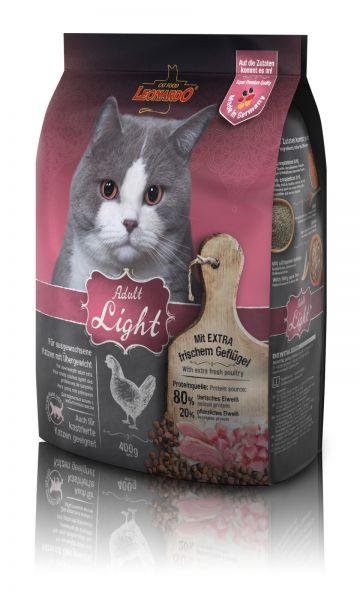 Katzen Trockenfutter - Adult Light für Katzen mit Übergewicht 400g - Leonardo Katzenfutter