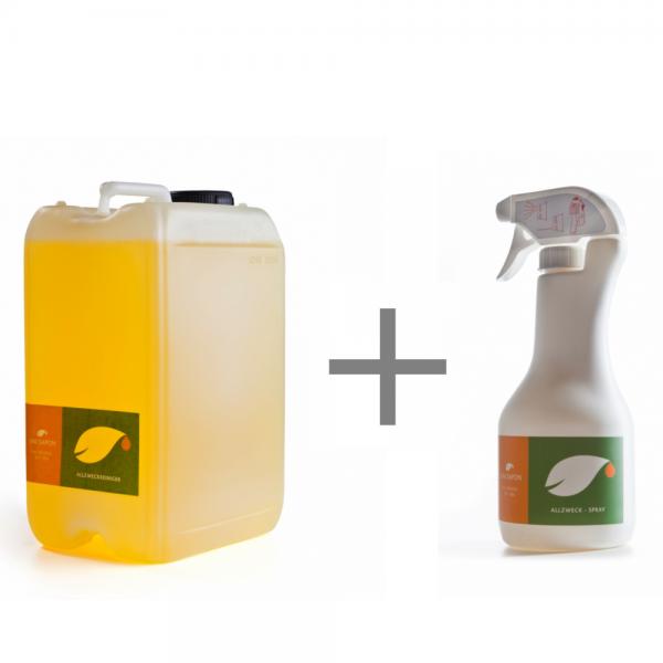 BIO Allzweckreiniger 3 L SET von Uni Sapon - Konzentrat - chemiefrei - umweltschonend - zertifiziert