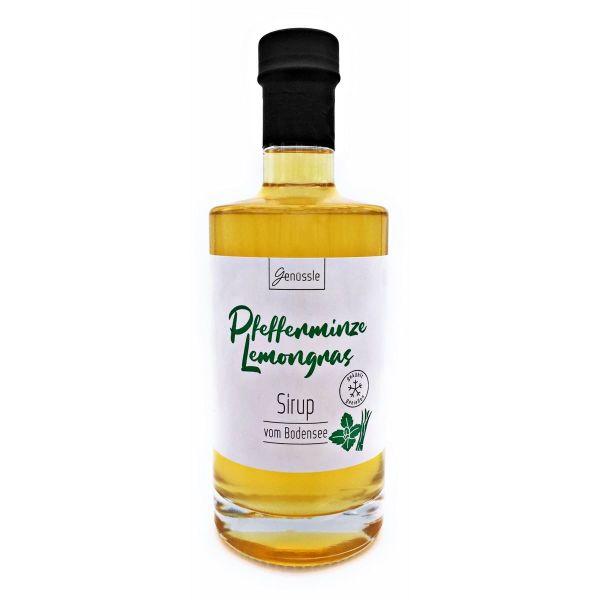 Pfefferminze-Lemongras Sirup-Genüssle Zitronengras Pfefferminz Bodensee Sirup