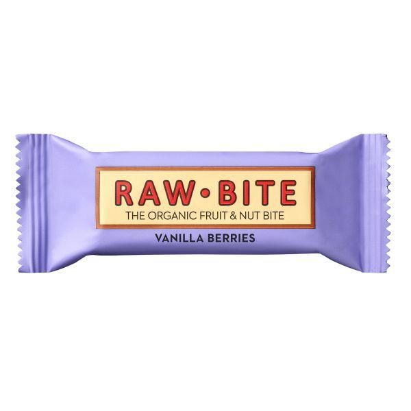 Raw Bite - Vanilla Berries Riegel - Frucht-Nussriegel mit feinen Beeren