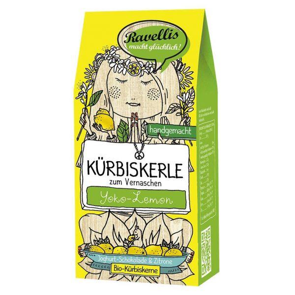 Ravellis Kürbiskerne mit Joghurt-Schokolade & Zitrone (80 g) - Bio