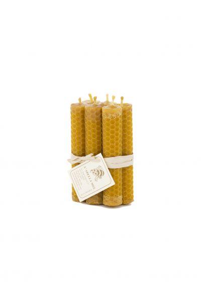 100 % Bienenwachskerzen aus Spanien - reines Naturprodukt - direkt vom Imker - Honigduft - 6 Kerzen