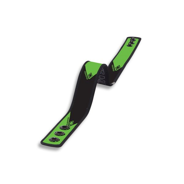 NOGRAD - Neopren Gürtel - Ideal als leichter Sport-Gürtel - Aerobelt Corporate Black Green