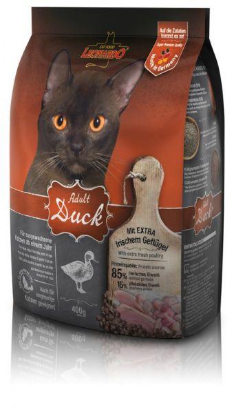 Katzen Trockenfutter - Adult Duck mit Ente & Reis 400g - Leonardo Katzenfutter - leichtverdaulich