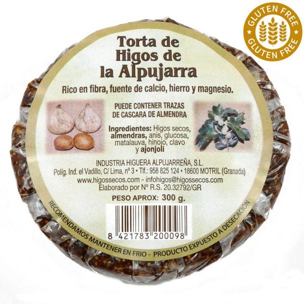Original spanisches Feigenbrot mit Mandeln- 100 % natürlich- Glutenfrei und Vegan - rund - 300 Gramm