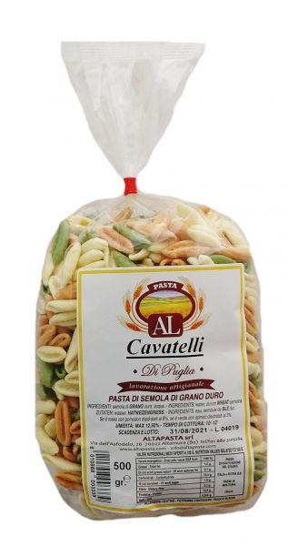 Frische Cavatelli Tricolor Nudeln aus Italien 500g – trafila in bronzo - cavo pasta - capunti