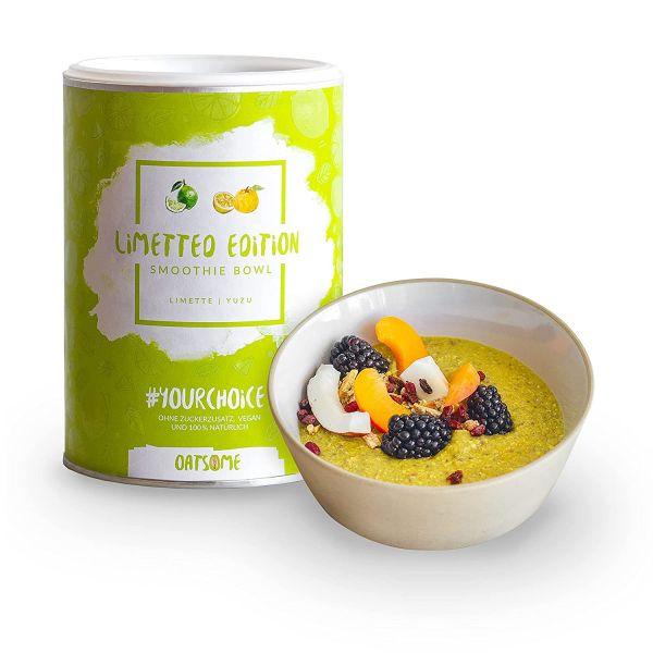 Oatsome - Limette & Yuzu - Smoothie Bowl - Nährstoff Frühstück mit 100% natürlichen Zutaten & ohne Z
