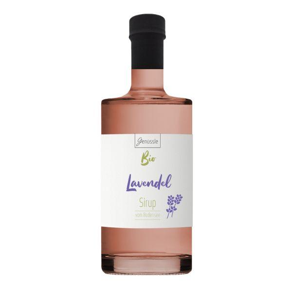 Bio Lavendelblüten-Sirup - 500ml - Genüssle Bio Lavendelsirup vom Bodensee - Lavendel Sirup