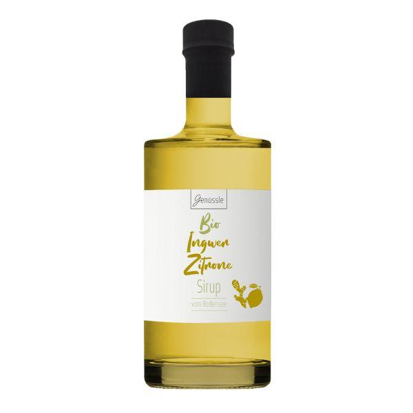 Bio Ingwer-Zitronen-Sirup - 500ml - Genüssle Ingwer Zitronen Sirup vom Bodensee