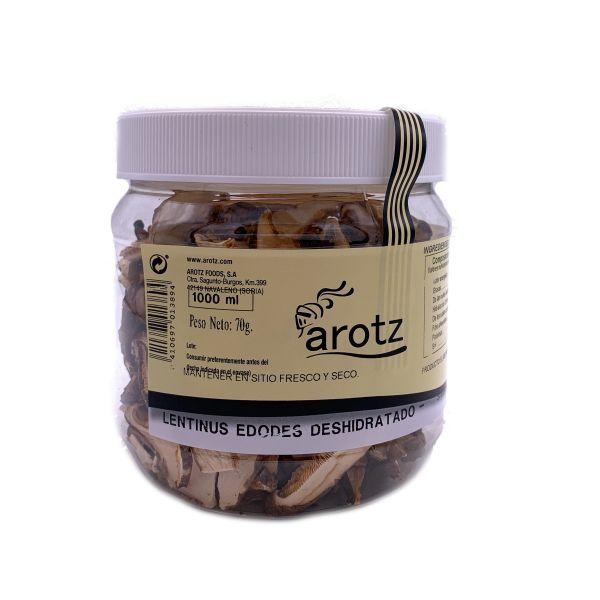 Kultivierter Shiitake Pilz - getrocknete Speisepilze der Spitzenklasse aus Spanien - Scheiben - 70 g