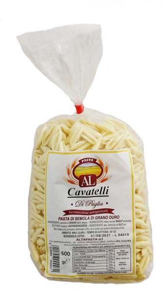 Frische Cavatelli Nudeln aus Italien 500g – trafila in bronzo - cavo pasta - capunti