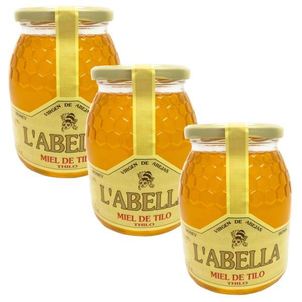 Lindenblütenhonig aus Spanien - Premium Qualität - Naturprodukt - kaltgeschleudert - 3 x 1 Kg Glas