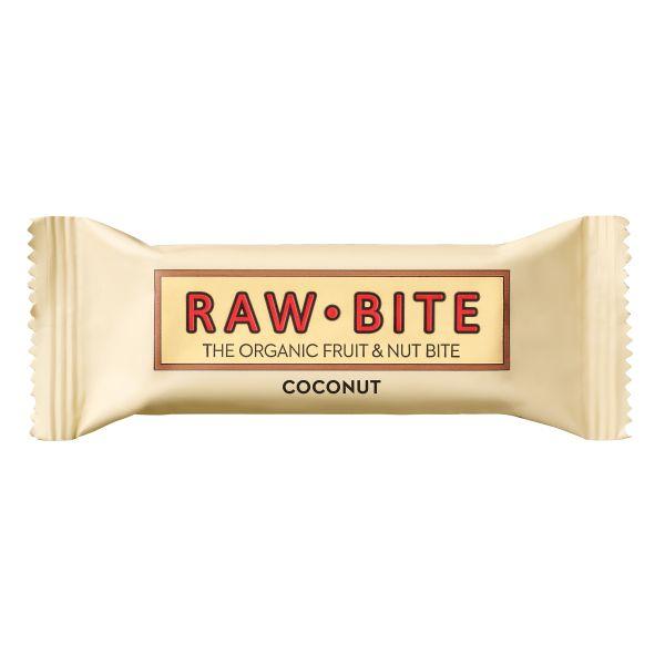 Raw Bite - Coconut Riegel - Frucht-Nussriegel mit feinen Kokosraspeln