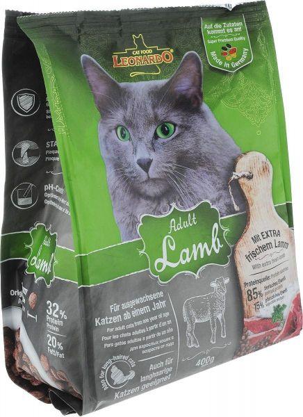 Katzen Trockenfutter - Adult Lamb mit Lamm und Reis 400g - Leonardo Katzenfutter - leichtverdaulich