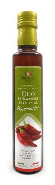 Extra Natives Olivenöl mit natürlichen Peperoncinoaroma aus Italien - höchste Qualität - 250 ml