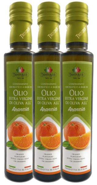 Extra Natives Olivenöl mit natürlichen Orangenaroma aus Italien - höchste Qualität - 3x250 ml