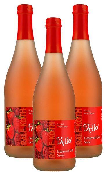 Palio - Erdbeer mit Chili Secco 3x 0,75l - Fruchtiger Perlwein - Prämiert aus Deutschland