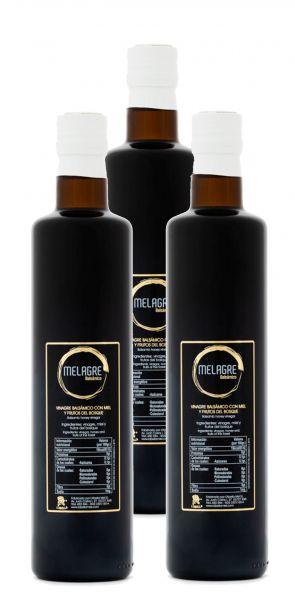 Honigessig Balsamico aus Spanien - Premium Qualität- reines Naturprodukt- im Faß gereift- 3 x 500 ml
