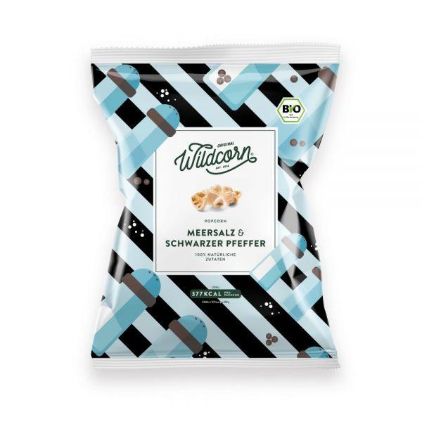 WILDCORN - Leckeres salziges Popcorn mit Meersalz & Pfeffer 80g