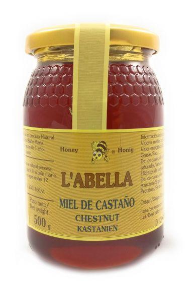 Edelkastanienhonig aus Spanien - beste Qualität - reines Naturprodukt - kaltgeschleudert - im Glas
