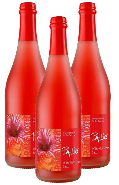 Palio - Wilde Hibiskusblüte Secco 3x 0,75l - Fruchtiger Perlwein - Prämiert aus Deutschland
