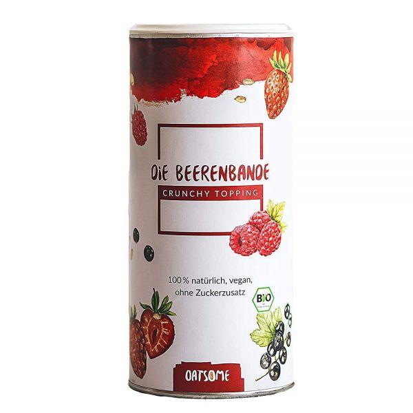 Oatsome - Beerenbande - Crunchy Toppings - Bio? Logisch! - Extra Crunchy - Ohne Zuckerzusatz - 190g