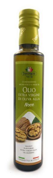 Extra Natives Olivenöl mit natürlichen Walnussaroma aus Italien - höchste Qualität - 250 ml
