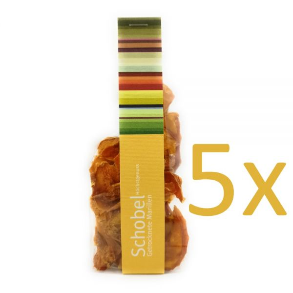 Getrocknete Aprikosen 5 x 45g - getrocknete Marillen - Vitaminreich - goldgelb  - Aprikosen Chips