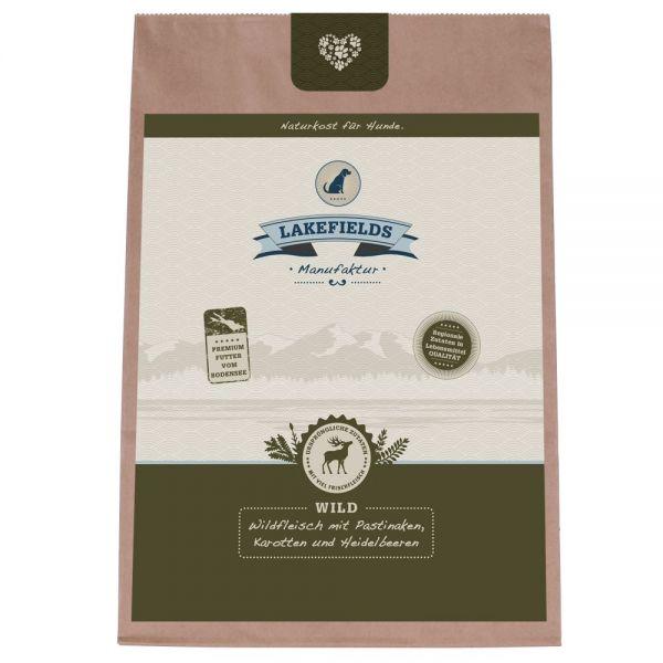 Lakefields Premium Trockenfleisch-Menü Wild Trockenfutter mit Pastinaken, Karotten und Heidelbeeren