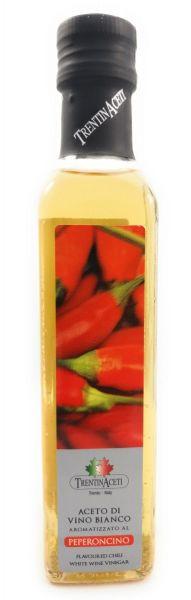Chiliessig - Weißweinessig mit Aroma - Chili Essig aus Italien - TrentinAcetia - 250 ml