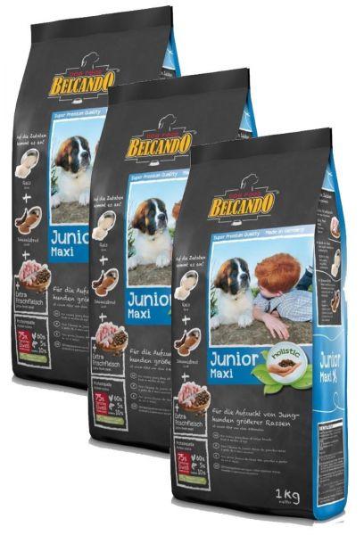Hunde Trockenfutter - Junior Maxi Geflügel und Reis 3x 1kg - Belcando Hundefutter - leichtverdaulich
