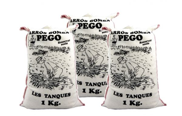 Bomba Reis aus Spanien 3 x 1 Kg - Rundkornreis - für Paella, Risotto.... - Anbau im Naturpark Marjal
