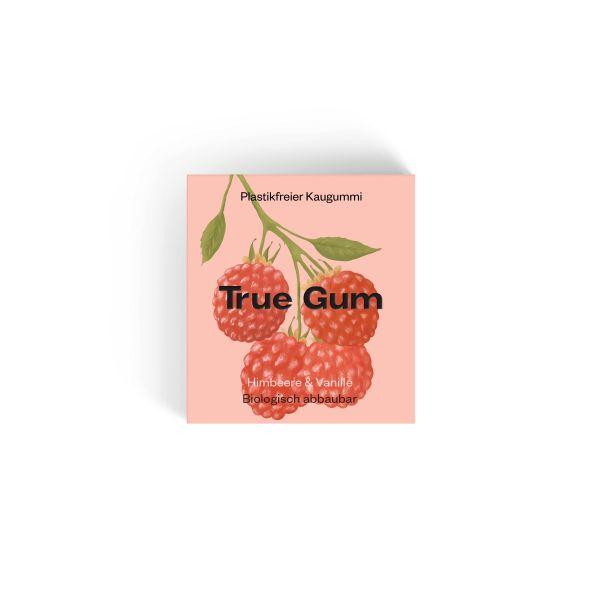 True Gum - Plastikfreie Kaugummi - Himbeere & Vanille - 100% Biologisch abbaubar