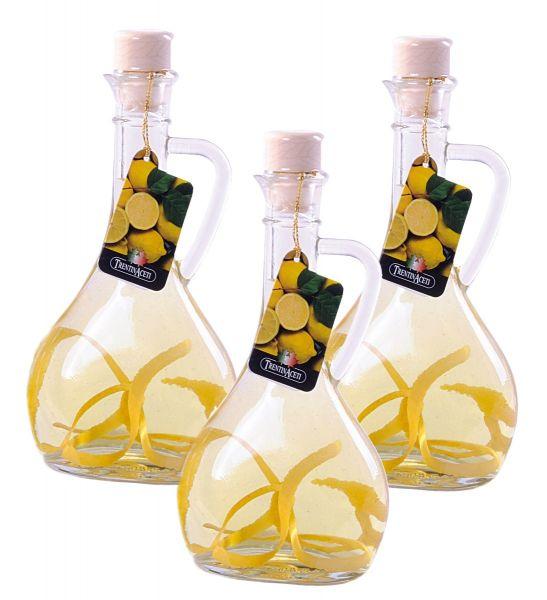 Zitronenessig - Weißweinessig mit Aroma - Zitronen Essig aus Italien - TrentinAcetia - 3x 250 ml
