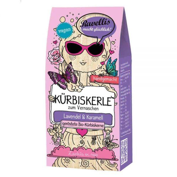 Ravellis Kürbiskerne mit Lavendel & Karamell (80 g) - Bio