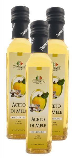 Apfelessig - Delikater Apfel Essig aus Italien - TrentinAcetia - 3x250 ml