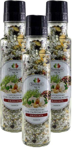 Italienische Barbecue Gewürzmischung zum Grillen - Barbecue Salz - höchste Qualität - 3x 220 ml