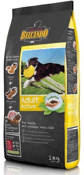 Hunde Trockenfutter - Adult Active mit Geflügel 1kg - Belcando Aktivfutter