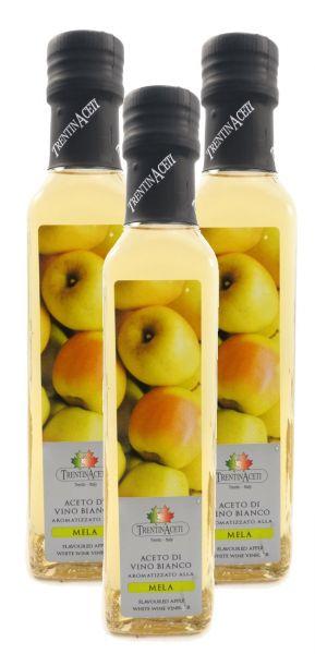 Apfelessig - Weißweinessig mit Aroma - Apfel Essig aus Italien - TrentinAcetia - 3x250 ml