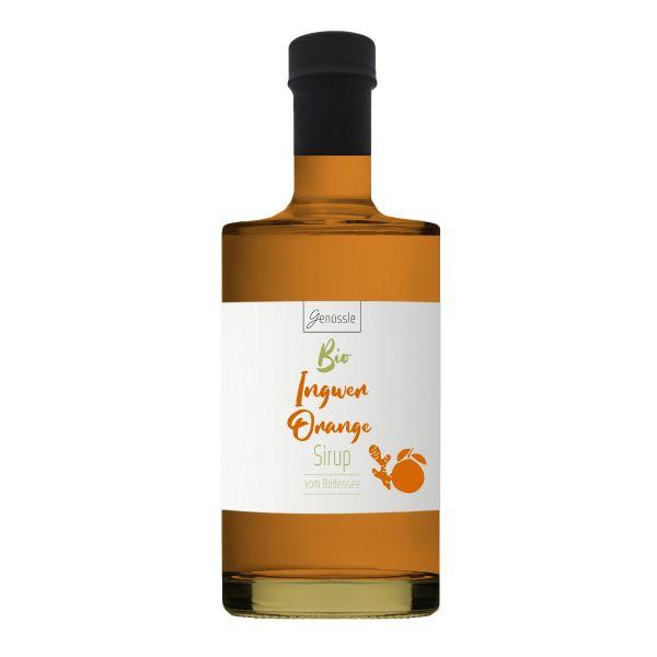Bio Ingwer-Orangen-Sirup - 500ml - Genüssle Ingwer Orangen Sirup vom Bodensee