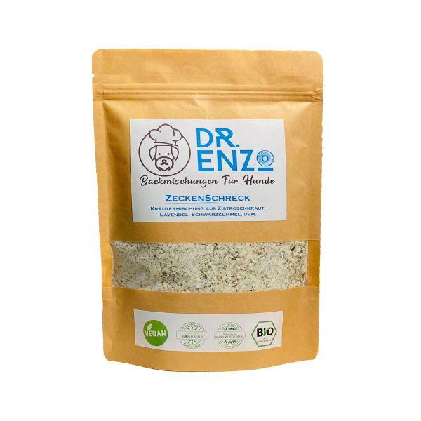 Dr. Enzo BIO Backmischung für Hundekekse - ZeckenSchreck - Zistrosenkraut, Lavendel - 200g - nur 4ct