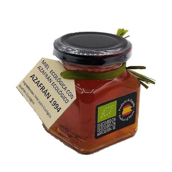 Azafran 1994 Honig mit Safran - 250g Safranhonig aus Spanien - in Madridejos gesammelt - 100% Ökologisch